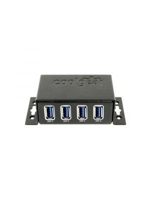 USB 3.1 Gen1 4 Port Mini Hub with Surge Protection